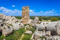 Temple G - Zeus Temple on a East Hill of Selinunte ancient Greek city on the south western coast of Sicily in Italy.