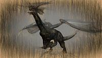 3d illustration of mythology creature, dragon. .