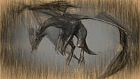 3d illustration of mythology creature, dragon. .