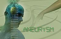 3d Medical illustration of brain aneurysm.