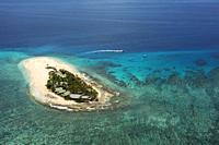 Namotu Island Mamanuca Islands, Fiji, South Pacific - aerial view.