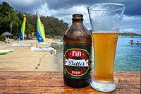 Fiji Bitter Beer in Malolo Island Resort and Likuliku Resort, Mamanucas island group Fiji.