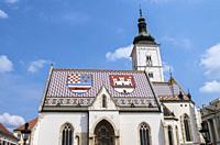 St. Mark's Church, Zagreb, Croatia.