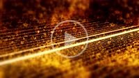 Abstract warm orange beam lines background motion. 4K UHD motion video loop.