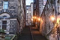 Warriston Close stairs in Edinburgh, the capital of Scotland, part of United Kingdom.