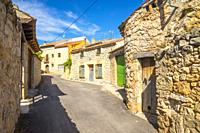 Street. Moradillo de Roa, Burgos province, Castilla Leon, Spain.