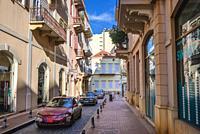 Street in Saifi Village residential upscale neighbourhood located in Beirut, Lebanon.