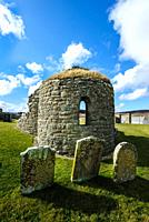 The Orphir round kirk, Orkney. Built in the late 11th, or early 12th century, the Orphir Round Kirk is thought to have been built by Earl Hakon. Dedic...
