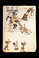 Codex Tudela, 16th-century pictorial Aztec codex. Museum of the Americas, Madrid, Spain.