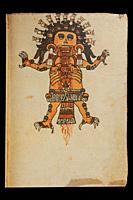 Tzitzimitl God at Codex Tudela, folio 46r, 16th-century pictorial Aztec codex. Museum of the Americas, Madrid, Spain.