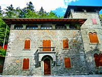 Street view of Abetone, Passo dell Abetone, province of Pistoia, Apennines, Tuscany, Italy, Europe.