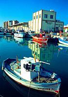 Fishing harbour. Vinaroz, Castellon province, Comunidad Valenciana, Spain.