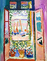 Open WIndow, Collioure, Henri Matisse, 1905, National Gallery of Art, Washington DC, USA, North America.