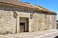 Ledesma, alhondiga del Obispo Pedro del Campo (warehouse). Salamanca province, Castilla y Leon, Spain.