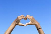 Heart shaped hands.