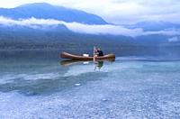 Canoe, Lake Bohinj, Municipality of Bohinj, Triglav National Park, Slovenia.
