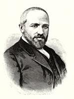 Portrait of Francisco Sánchez de Castro (1847 - 1899) Spanish teacher and writer, Spain. Old XIX century engraved illustration from La Ilustracion Esp...