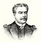 Portrait of Eduardo Wandenkolk (Rio de Janeiro 1838 - Rio de Janeiro 1902) military of the Brazilian Navy, politician, minister of the navy and senato...