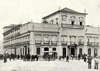 Brazilian Imperial Palace militarily occupied 16 diciembre de 1889. Baroque colonial style building in the current Plaza XV of November, in the histor...