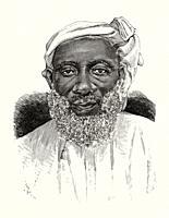 Portrait of Tippu Tib or Tip. Hamed bin Mohammed el Marjebi Swahili (1837 - 1905) slave trader from Zanzibar, plantation owner, governor of the Stanle...