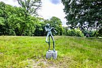 Sculpture garden in the nature of the Bilt in Utrecht, The Netherlands, Europe.
