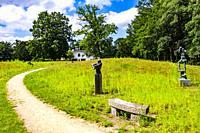 Museum with sculpture garden in the nature of the Bilt in Utrecht, The Netherlands, Europe.