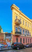 Odessa, Ukraine 06. 30. 2020. House with one wall in the historical center of Odessa, Ukraine, on a sunny summer morning.