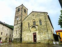 Chiesa di Santa Maria Assunta in Piazza della Chiesa, The Assuntion Church, Old Romanic Style, XII Century, Popiglio, Pistoia Province, Tuscany Region...