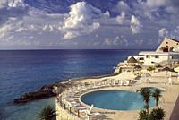 Hotel Swimming Pool. . Cozumel. Mexico.