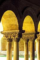 Romanesque Capitals. . Cloister of Sto. Domingo de Silos. . Silos (Burgos). Spain.