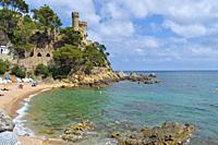 Beach castle, Lloret de Mar Girona Spain.