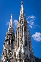 Neo gothic style Votive Church in Vienna, Austria.