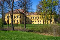 Schloss Eckartsau palace, last residence of Charles I of Austria in Eckartsau town, Lower Austria.