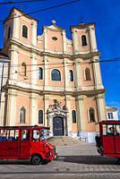 Old Cathedral of Saint John of Matha and Saint Felix of Valois simply known as Trinitarian Church in Bratislava, Slovakia.