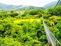 PoPonte Sospeso, made in 1920 by Vincenzo Douglas Scotti (1877 - 1937), 212 meter long, the longest pedestrian suspended bridge in the world, San Marc...
