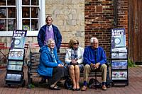 A Jehovah Witness Bookstall, The High Street, Lewes, East Sussex, UK.