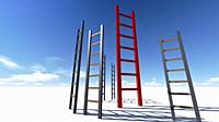 Ladder of Success made in 3d software.
