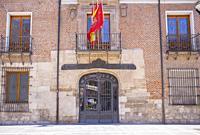 Valladolid, Spain - July 18th, 2020: Palacio de Pimentel, where Felipe II was born. Now housing the Diputacion Provincial of Valladolid, Spain.