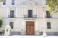 Valladolid, Spain - July 18th, 2020: Royal Palace of Valladolid facade. Currently is the headquarters of the 4th General Sub-inspection of the Army. V...
