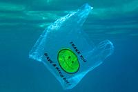 BECICI AND BUDVA, BUDVA MUNICIPALITY, MONTENEGRO - JULY 31, 2020: Plastic and other garbage polluting in the Adriatic Sea. Used medical face masks dis...