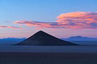 Cone of Arita, in the desert landscape of the Salar de Arizaro, La Puna, Argentina, South America, America.