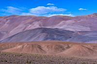 Desert landscape in the Salar de Arizaro, La Puna, Argentina, South America, America.