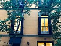 Lit up windows. Madrid, Spain.