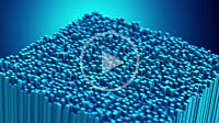 Motion abstract blue cubes as video animation loop background