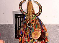 Mask of Jarramplas, San Sebastian fest, Pironal, Caceres, Spain.