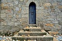 Small door in the church of San Juan, Piornal, Caceres, Spain.