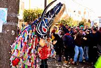 Mask of Jarramplas, San Sebastian fest, Pironal, Caceres, Spain