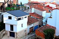 View of Casas del Castañar village, Caceres, Spain