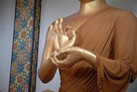 Buddha, Shambhala Mountain Center, Red Feather Lakes, Colorado, USA.