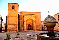 San Nicolas square: church of San Nicolas, Plasencia, Caceres, Spain.